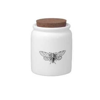 Cicada Candy Jars
