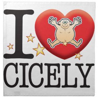 Cicely Love Man Napkin