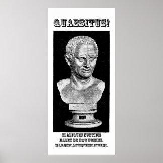 Cicero Wanted (Latin) Poster