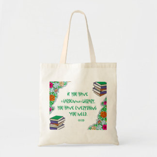 Cicero's quote on libraries tote bag