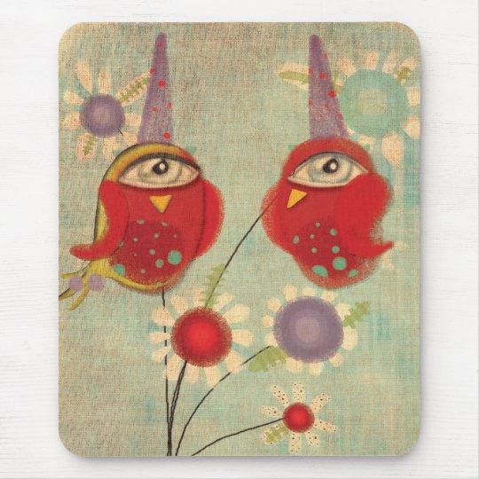 Ciclope Buho Lechuza Owl Vintage Mousepad