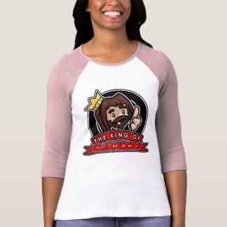 Cicrle Logo - Women's 3/4 Sleeve Raglan (Pink) T-Shirt