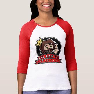 Cicrle Logo - Women's 3/4 Sleeve Raglan (Red) T-Shirt