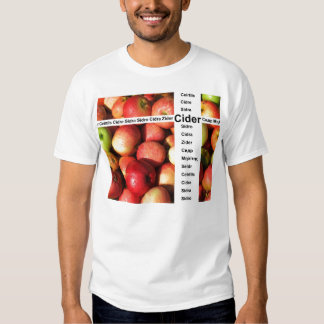 Cider words tee shirt