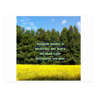 Cielo árboles y flores 18.02.02 postcard