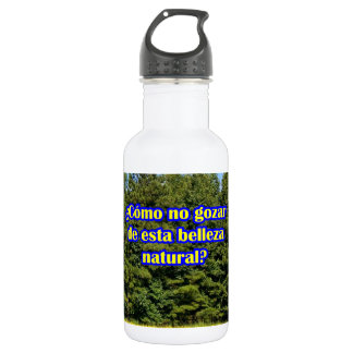Cielo árboles y flores 18.02.04 18oz water bottle