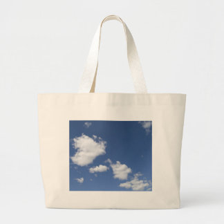 cielo  azul con nubes blancas canvas bag