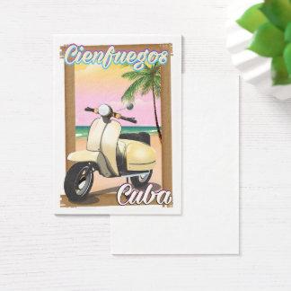 Cienfuegos City Cuban travel poster Business Card