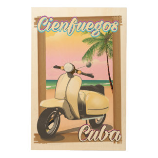 Cienfuegos City Cuban travel poster Wood Canvases