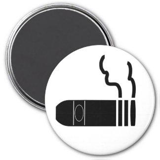 Cigar 7.5 Cm Round Magnet