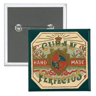 Cigar Ad Cuban Perfectos Vintage Tobacco 15 Cm Square Badge