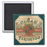 Cigar Ad for Cuban Perfectos Tobacco Label Square Magnet