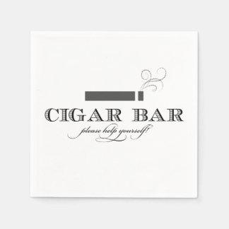 Cigar Bar Cocktail Napkins Disposable Napkins