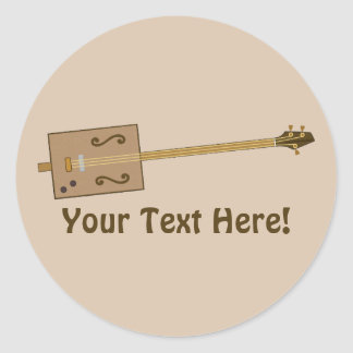 Cigar Box Guitar Classic Round Sticker