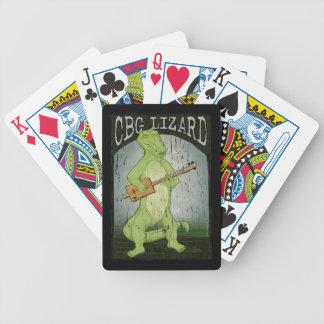 Cigar Box Guitar Lizard Playing Cards