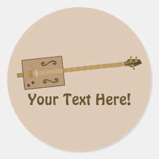 Cigar Box Guitar Round Sticker