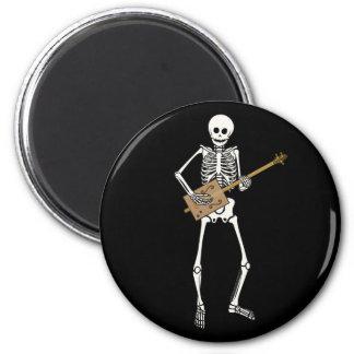 Cigar Box Guitar Skeleton 6 Cm Round Magnet
