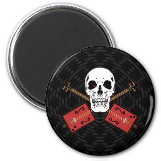 Cigar Box Guitar Skull Magnet