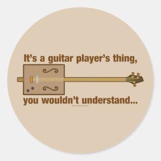Cigar Box Guitar Thing Round Sticker
