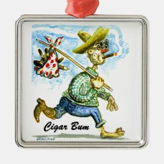 Cigar Bum Ceramic Ornament