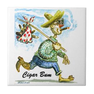 Cigar Bum Ceramic Tile