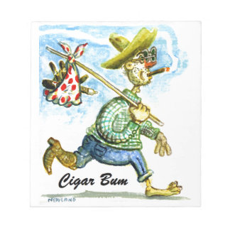 Cigar Bum Note Pad