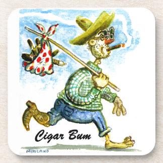 Cigar Bum Plastic Coaster