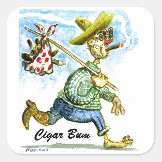 Cigar Bum Sticker