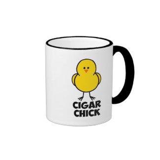 Cigar Chick Coffee Mugs
