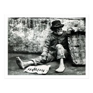 Cigar-end Seller c 1865 b w photo Post Card
