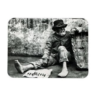 Cigar-end Seller, c,1865 (b/w photo) Rectangular Photo Magnet
