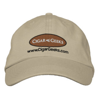 Cigar Geeks Embroidered Cap with Logo and Address Embroidered Hat