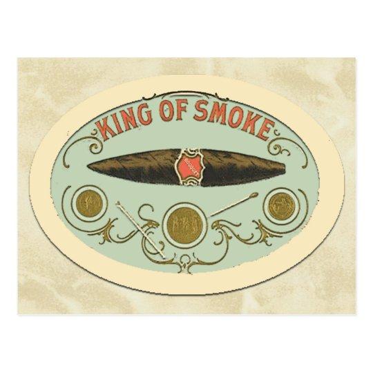 Cigar Lovers King of Smoke Tobacco Label Postcard
