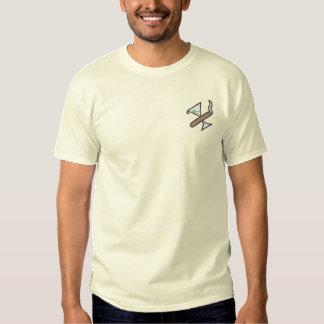 Cigar/martini Logo Embroidered T-Shirt