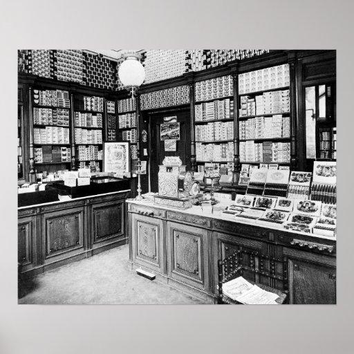 Cigar Shop, 1895. Vintage Photo Poster