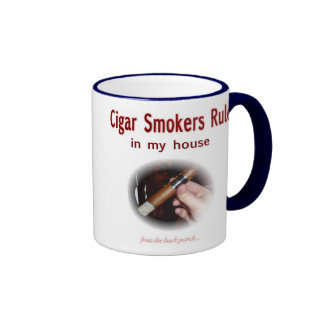 Cigar Smoker Ringer Mug