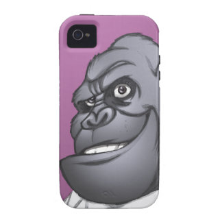 Cigar Smoking Business Man Boss Gorilla by Al Rio Case-Mate iPhone 4 Cases