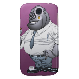 Cigar Smoking Business Man Boss Gorilla by Al Rio Galaxy S4 Case