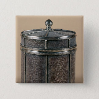 Cigarette box with shagreen sides, 1928 15 cm square badge