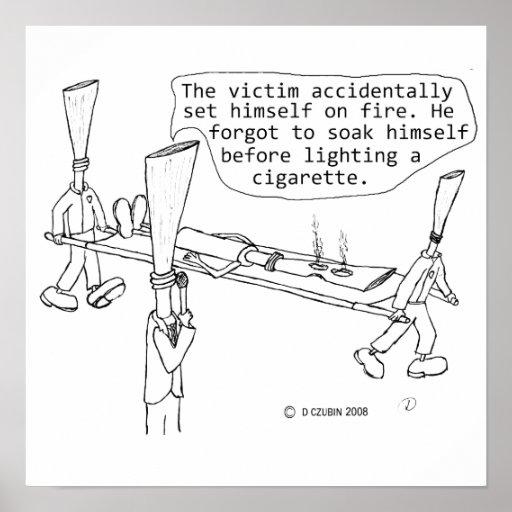 Cigarette Burn Victim Poster