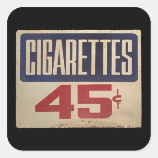 cigarettes 45¢ square sticker