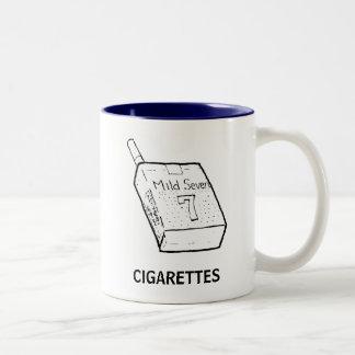CIGARETTES printed graphic mug