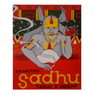 Cigarettes Sadhu Tabac D'Orient Poster