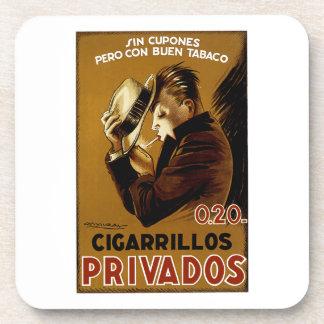 Cigarillos Privados Beverage Coaster