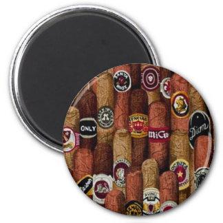 Cigars 6 Cm Round Magnet