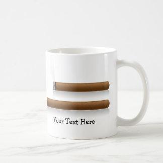 Cigars (personalized) basic white mug