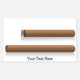 Cigars (personalized) rectangular sticker