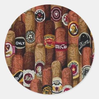 Cigars Round Sticker