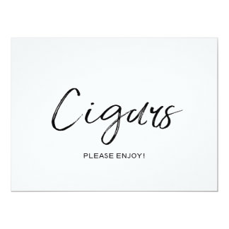 """""""Cigars"""" Wedding Sign 