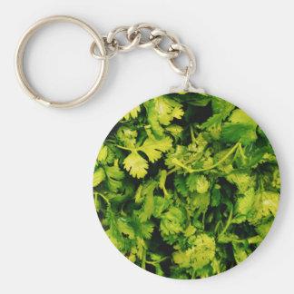 Cilantro / Coriander Leaves Key Ring